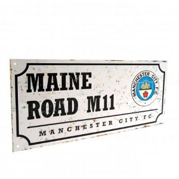 Manchester City Retro Maine Road Street Sign